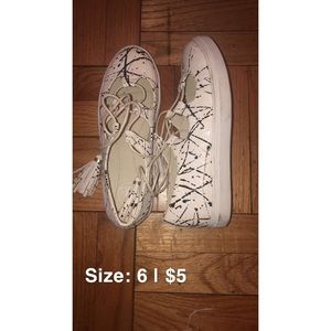 spring clean out • shoes • splatter paint sneaks